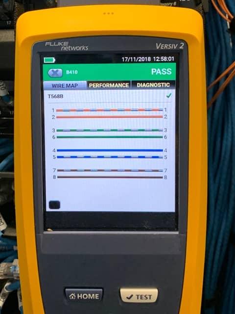 หน้าจอขณะทำการทดสอบ DSX2 8000
